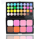varonil - 40 sombras de ojos y 8 colores paleta de maquillaje coloretes