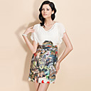TS Silk Chiffon Safari Print Dress