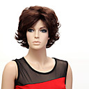 Capless Short High Quality Synthetic Japanese Kanekalon Wavy Wig Side Bang