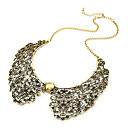 Retro Metal Hollow Sham Collar Necklace