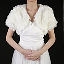 Gorgeous Faux Fur Short Sleeve Wedding / Special Occasion Jacket / Wrap