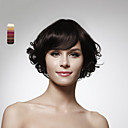 Capless Chin Length 100% Human Hair Nature Look Curly Hair Wig 5 Colors To Choose
