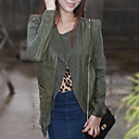 Unique Long Sleeve Turndown Collar Casual PU Jacket(More Colors)