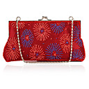 Charming Cotton with Flower Pattern Evening Handbag/Clutches(More Colors)