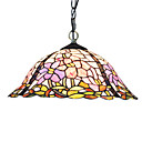 Tiffany Glass Pendent Lights with 2 Lights in Floral Pattern