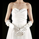 Satin Fingertips Elbow Length Bridal Gloves With Bow (More Colors)
