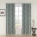 (Two Panels) Mother Chrysanthem Blackout Curtains