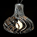 60W Comtemporary Pendant Light with 1 Light in Acrylic Shade Spiral Designed