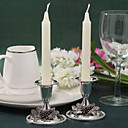 Fabulous Silver Plated Candle Holder With Grape (Set of 2)
