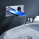 Sprinkle by Lightinthebox - Color Changing LED Waterfall Bathroom Sink Faucet (Wall Mount)