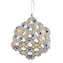 20W Comtemporary Floral Aluminum Pendant Light with 1 Light in G4 Bulb Base