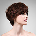 Capless 100% Human Hair Wig Short High Quality Natural Look Brown Curly Hair Wig