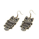 Vintage Owl Shaped Earrings