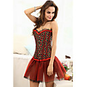 Viscose/Cotton With Lace/Printing Strapless Front Busk Closure Corsets Shapewear