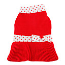Snow White Style Sweater for Dogs (XS-XL, Red)