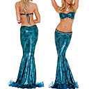 Blue Sexy da Mulher Mesmerizing Sereia Adulto Halloween Costume (2pieces)