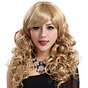 Capless Long Blonde Curly High Quality Synthetic Japanese Kanekalon Wigs