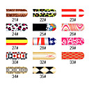 16 stuks Nail Foil Art Classic Full Cover Stickers Manicure