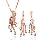 Tentacles 18K Gold Jewelry Set With Rhinestone Including Necklace,Earring (More Colors)