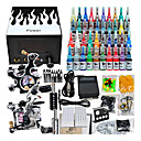 2 Guns Tatoo Kit avec alimentation LCD et 40 d'encre couleur