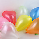 Solid Color Heart-shaped Ballon - Set of 100(Mixed Color)