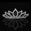 Simple Alloy With Rhinestone Flower Girl Tiaras