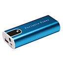 5200mAh Portable Mobile Power Battery with LED Light Aluminum Shell