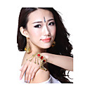 Performance Dancewear Alloy with Red Gem Belly Dance Bracelet For Ladies