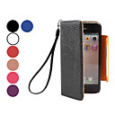 Estuche de Cuero PU de Grano Litchi con Cordn para el iPhone 5 (Colores Surtidos)