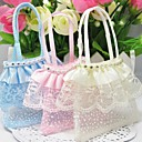 Beaufiful Organza Favors Bags With Lace - Set of 12 (More Colors)