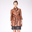 Excellent Lambskin Leather Long Sleeve Women's Fashion/Career Coat (More Colors)