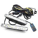 Estilo Euro 2 x 6 W de alta potencia de 6-LED de luces de circulacin diurna