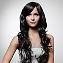 Lace Front Long 100% Human Hair Natural Look Curly Hair Wig 5 Colors To Choose
