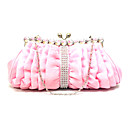 Elegant Polyester with Crystal Evening Handbag/Clutches(More Colors)