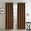 (Two Panels) Traditional Embossed Geometic Blackout Curtains