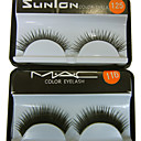 20Pair Black Fiber Eyelash False Eyelashes