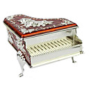 Personalized Lovely Red Piano Shaped Tin Alloy Women's Jewelry Box