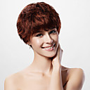 Capless Short 100% Human Hair Auburn Curly Hair Wig