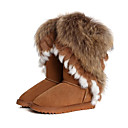 Women 'Purl Cow Leather Warm Boots Schneeschuhe