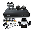 4 Canal DVR CCTV Kit (2 exteriores e 2 Cmera IR interior, H.264 DVR)