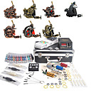 9 Tatoo Guns Kit with LCD Power Supply and 40 Color Ink