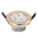 3W LED plafond licht met 3 LED's en Gele Cirkel in Round Feature