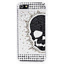 Skeleton Head Pattern with Diamond Surface Hard Case for iPhone 5