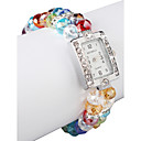Charmant Multicolor Lampwork Glass Square Women 'Watch