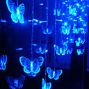 0.8Mx1M Blue Butterfly Crystal String LED Lamp with 40 LEDs - Christmas & Halloween Decoration