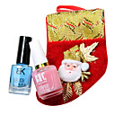 Christmas Nail Art Gift Bag of Base Coat within Ca and Noctilucent Nail Polish with Assorted Colors