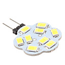G4 4.5W SMD 9x5630 400-430LM 6000-6500K Natural White Light Bulb Lotus Mancha em forma de LED (12V)