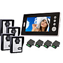 "2.4GHz Wireless 7"" LCD Monitor Home Security Video Door Phone and Intercom System(4 cameras)"
