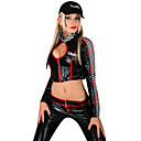 Sexy Black Polyester  Racing Outfit(2 Pieces)