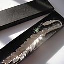 Christmas Tree Feather Bookmark